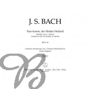 Nun komm der Heiden Heiland (BWV 62) Organo
