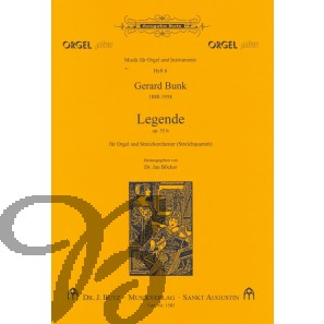 Legende op. 55b für Orgel und Streichquartett (Partitur)
