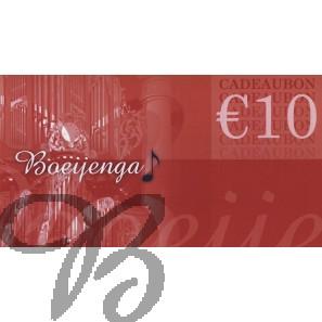 Cadeaubon 10 euro / Gift Card 10 euro