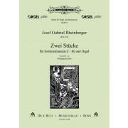 Zwei Stücke für Soloinstrument (C/B) und Orgel