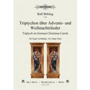 Triptychon über Advents- und Weihnachtslieder für Orgel vierhändig