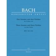 Drei Sonaten und drei Partiten für Violine solo, BWV 1001-1006