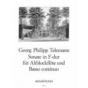 Sonate in F-dur für Altblockflöte und Basso Continuo