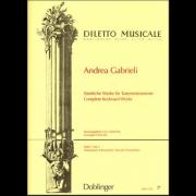 Sämtliche Werke für Tasteninstrumente I - Gabrieli, Andrea (1532-1585)