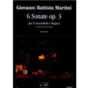 6 Sonate op.3 for Harpsichord and Organ (Bologna, 1747) - Martini, Giovanni Batista (1706-1784)