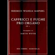 Cappricci e Fughe pro organo op.1 - Marpurg, Friedrich Wilhelm (1718-1795)