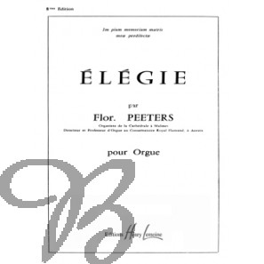 Élégie pour orgue, op.38