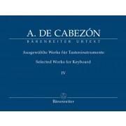 Ausgewählte Werke für Tasteninstrumente IV
