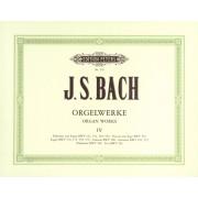 Bach - Orgelwerke 4 (Peters) - Bach, Johann Sebastian (1685-1750)