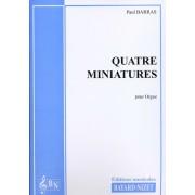 Quatre Miniatures pour Orgue