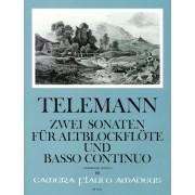 Zwei Sonaten für Altblockflöte und Basso Continuo (TWV 41:C5 und 41: D4)