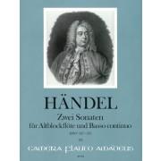 Zwei Sonaten für Altblockflöte und Basso continuo, HWV 327 & 373