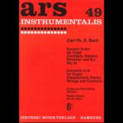 Konzert G-Dur für Orgel (Cembalo, Klavier) Streicher und B.c. Wq 34 (Partitur) - Bach, Carl Philipp Emmanuel (1714-1788)