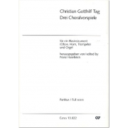 Drei Choralbearbeitungen für ein Blasinstrument und Orgel