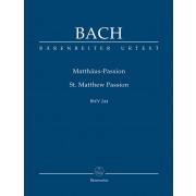 Matthäus-Passion, BWV 244  (Partitur) - Bach, Johann Sebastian (1685-1750)